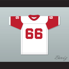 Jack Ham 66 Bishop McCort High School Crimson Crushers White Football Jersey 1