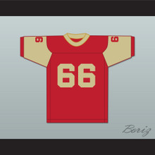 Jack Ham 66 Bishop McCort High School Crimson Crushers Red Football Jersey 1