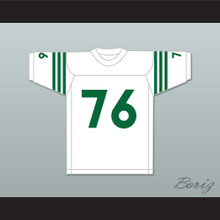 Mike Webster 76 Rhinelander High School Hodags White Football Jersey 1