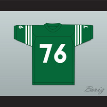 Mike Webster 76 Rhinelander High School Hodags Green Football Jersey 1