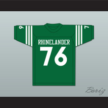 Mike Webster 76 Rhinelander High School Hodags Green Football Jersey 2