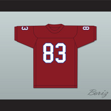 Ted Hendricks 83 Hialeah Senior High School Thoroughbreds Scarlet Red Football Jersey 1