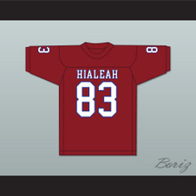Ted Hendricks 83 Hialeah Senior High School Thoroughbreds Scarlet Red Football Jersey 2