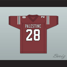 Adrian Peterson 28 Palestine High School Wildcats Maroon Football Jersey 2