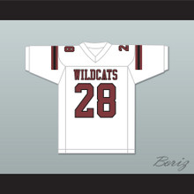 Adrian Peterson 28 Palestine High School Wildcats White Football Jersey 2