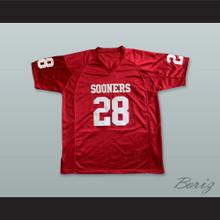 Adrian Peterson 28 Oklahoma Sooners Crimson Red Football Jersey