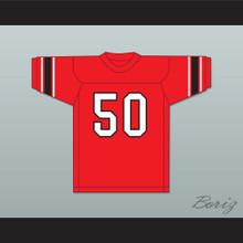 Jim Otto 50 Wausau East High School Lumberjacks Red Football Jersey 1