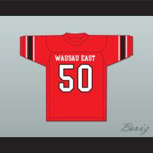 Jim Otto 50 Wausau East High School Lumberjacks Red Football Jersey 2