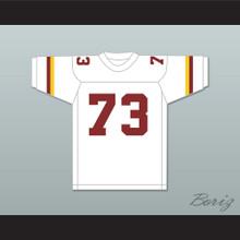 Larry Allen 73 Vintage High School Crushers White Football Jersey 1