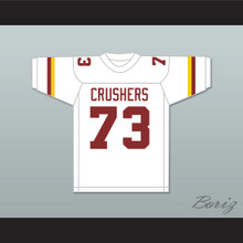 Larry Allen 73 Vintage High School Crushers White Football Jersey 2