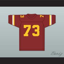 Larry Allen 73 Vintage High School Crushers Maroon Football Jersey 1