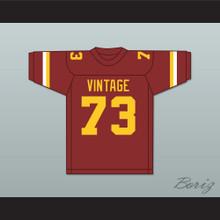 Larry Allen 73 Vintage High School Crushers Maroon Football Jersey 2