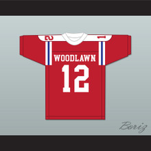 Terry Bradshaw 12 Woodlawn High School Knights Red Football Jersey 2