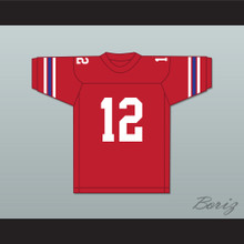 Terry Bradshaw 12 Woodlawn High School Knights Red Football Jersey 3