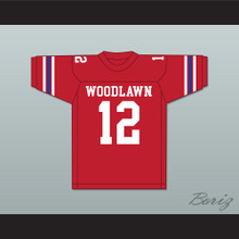 Terry Bradshaw 12 Woodlawn High School Knights Red Football Jersey 4