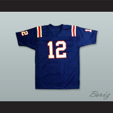 Terry Bradshaw 12 Louisiana Tech Bulldogs Blue Football Jersey 1
