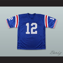 Terry Bradshaw 12 Louisiana Tech Bulldogs Blue Football Jersey 2