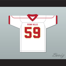 Aaron Donald 59 Penn Hills High School Indians White Football Jersey