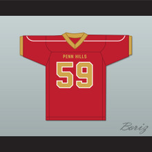 Aaron Donald 59 Penn Hills High School Indians Red Football Jersey