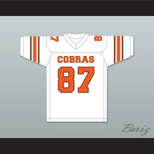 Derrick Thomas 87 South Miami Senior High School Cobras White Football Jersey 2