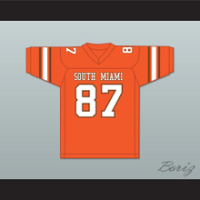 Derrick Thomas 87 South Miami Senior High School Cobras Orange Football Jersey 2
