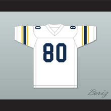 Michael Irvin 80 St. Thomas Aquinas High School Raiders White Football Jersey 1