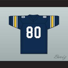 Michael Irvin 80 St. Thomas Aquinas High School Raiders Dark Blue Football Jersey 1