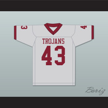 Troy Polamalu 43 Douglas High School Trojans Gray Football Jersey 2