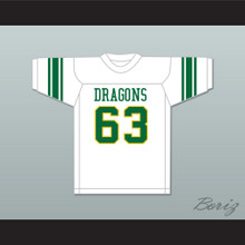 Willie Lanier 63 Maggie L. Walker Governor's School Dragons White Football Jersey 2