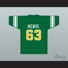Willie Lanier 63 Maggie L. Walker Governor's School Dragons Green Football Jersey 2