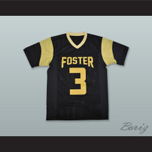 Cedarian Lamb 3 John and Randolph Foster High School Falcons Black Football Jersey