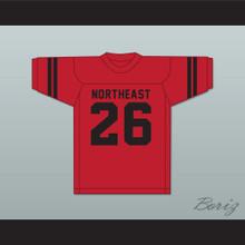 Herb Adderley 26 Northeast High School Vikings Red Football Jersey 2