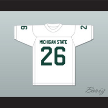 Herb Adderley 26 Michigan State Spartans White Football Jersey