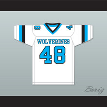 Rob Gronkowski 48 Woodland Hills High School Wolverines White Football Jersey 1