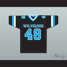 Rob Gronkowski 48 Woodland Hills High School Wolverines Black Football Jersey 2