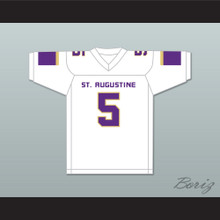 Leonard Fournette 5 St. Augustine High School Purple Knights White Football Jersey 1