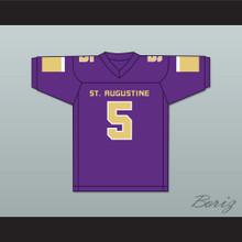 Leonard Fournette 5 St. Augustine High School Purple Knights Purple Football Jersey
