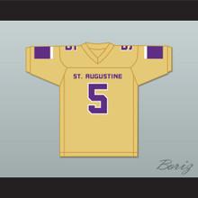 Leonard Fournette 5 St. Augustine High School Purple Knights Old Gold Football Jersey