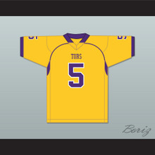 Mike Evans 5 Ball High School Tors Yellow Gold Football Jersey