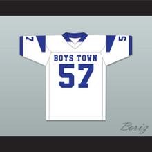 Shaquil Barrett 57 Boys Town High School Cowboys White Football Jersey 1