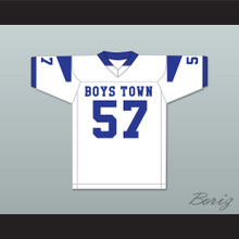 Shaquil Barrett 57 Boys Town High School Cowboys White Football Jersey 2