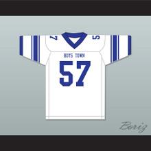 Shaquil Barrett 57 Boys Town High School Cowboys White Football Jersey 4