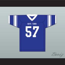 Shaquil Barrett 57 Boys Town High School Cowboys Blue Football Jersey 4
