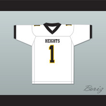 Travis Kelce 1 Cleveland Heights High School Tigers White Football Jersey 1