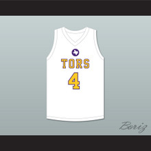 Mike Evans 4 Ball High School Tors White Basketball Jersey 2