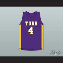 Mike Evans 4 Ball High School Tors Purple Basketball Jersey
