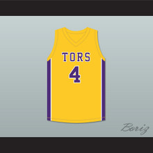 Mike Evans 4 Ball High School Tors Yellow Gold Basketball Jersey