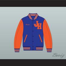 Austin John Hughes High School Wasps Blue and Orange Varsity Letterman Jacket-Style Sweatshirt