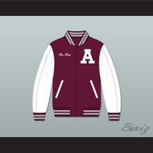 Dr. Dre Guilty Conscience Maroon and White Varsity Letterman Jacket-Style Sweatshirt