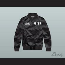 Bobby Shmurda G.S9 Black Varsity Letterman Satin Bomber Jacket